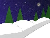 Snowy landscape. An illustration of a snowy landscape stock illustration