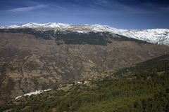 Snowy Landscape. In Sierra Nevada, Spain royalty free stock photo