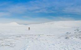 Snowy landscape. Deserted snowy landscape and serene sky Stock Photography