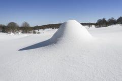 Snowy landscape, Entzia mountain range, Basque Country Stock Photo