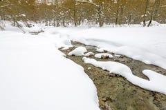 Snowy landscape, Entzia mountain range, Basque Country Stock Image