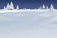 Snowy landscape with fir trees. Digitally generated Snowy landscape with fir trees Stock Images