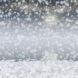 Snowy landscape generated hires background Royalty Free Stock Images