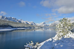 Snowy Landscape in Glacier National Park Stock Photography