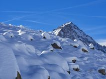 Free Snowy Landscape In Dufourspitze Stock Photo - 106912770