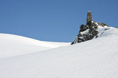Snowy landscape in the mountains Stock Photography