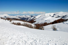 Snowy Landscape. From Palombera, Cantabria. Spain Stock Photography