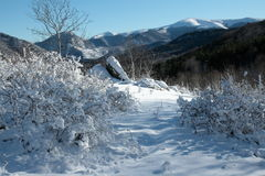 Snowy landscape in Pyrenees Stock Photography