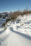 Snowy landscape in Pyrenees Stock Images