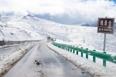 Snowy landscape Stock Photos