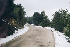 A snowy landscape. Royalty Free Stock Photography
