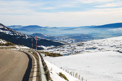 Snowy Landscape. Of southern Cantabria. Spain Royalty Free Stock Photography