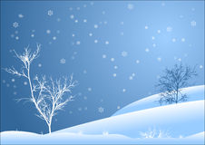 Snowy-Landschaft Lizenzfreie Stockfotos