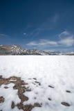 Snowy-Landschaft im hohen Si Lizenzfreie Stockbilder