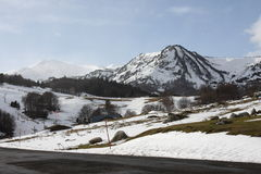 Snowy-Landschaft in Pyrenees Lizenzfreies Stockbild