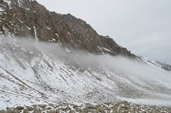 Snowy-Landschaft, Region Schwarzen Meers, die Türkei Lizenzfreie Stockfotografie