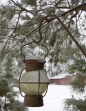Snowy lantern Royalty Free Stock Photos