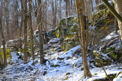 Snowy ledges Royalty Free Stock Image