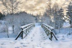 Free Snowy Little Bridge 2 Royalty Free Stock Photo - 63466845