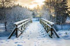Snowy little bridge 3 Stock Image