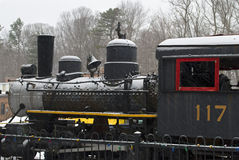Snowy Locomotive Stock Image