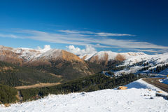 Snowy Loveland Pass stock photography