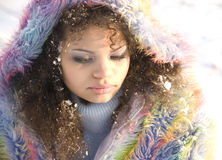 Snowy-Mädchen lizenzfreies stockbild