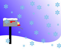 Snowy Mail Box. Snowy Mail vector illustration