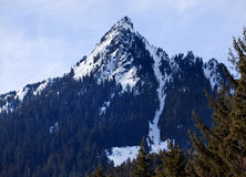 Snowy McClellan Butte Snoqualme Pass Washingto Royalty Free Stock Image