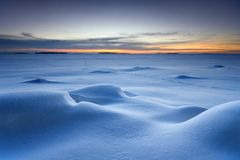 Snowy-Meerblick stockfoto