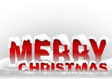 Snowy Merry Christmas Royalty Free Stock Images