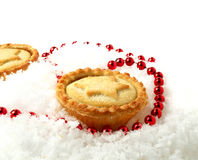 Snowy Mince Pies Stock Images