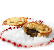 Snowy Mince Pies 2 Royalty Free Stock Photos