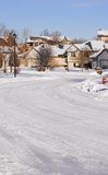 Snowy Minnesota Neighborhood Stock Photos