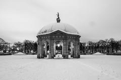 Snowy Monaco di Baviera Hofgarden Immagine Stock Libera da Diritti