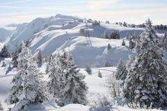 Snowy mountains Stock Photos