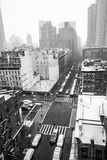 Snowy morning from a rooftop in NYC Stock Photo