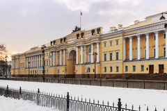 Snowy morning in St. Petersburg. Russia Royalty Free Stock Photography