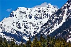 Snowy Mount Chikamin Peak Snoqualme Washington Stock Photos