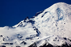 Snowy Mount Rainier Crater Washington Stock Images
