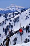 Snowy Mount Saint Adams Closed Sign Washington Stock Photography