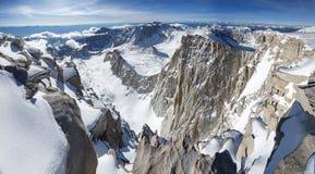 Snowy Mount Whitney Summit Panorama royalty free stock photos