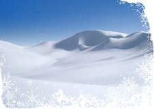 Snowy Mountain. Christmas background illustration and Stock Image