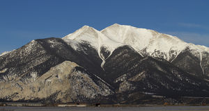 Snowy Mountain. Scenic Mount Princeton in the Collegiate Peaks of Colorado Royalty Free Stock Images