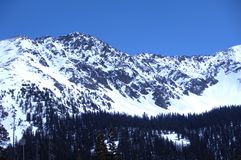 Snowy Mountain 299. Snow covered peaks of Colorado Rocky Mountains Royalty Free Stock Image