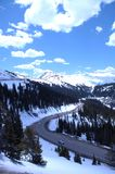 Snowy Mountain 359. Snow covered peaks of Colorado Rocky Mountains Stock Photos