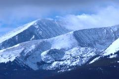 Snowy Mountain. Wind blown snowy peak in the mountains of Colorado Stock Photos