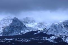 Snowy Mountain. Wind blown snowy peak in the mountains of Colorado Stock Photo