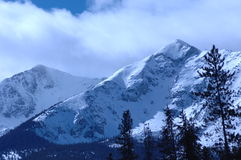 Snowy Mountain. Wind blown snowy peak in the mountains of Colorado Stock Images