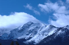 Snowy Mountain. Wind blown snowy peak in the mountains of Colorado Royalty Free Stock Photos